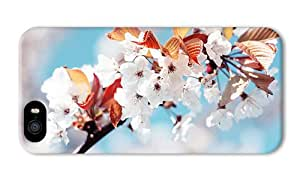Do It Yourself DIY iphone 5 case customize White cherry blossoms PC 3D for Apple iPhone 5/5S