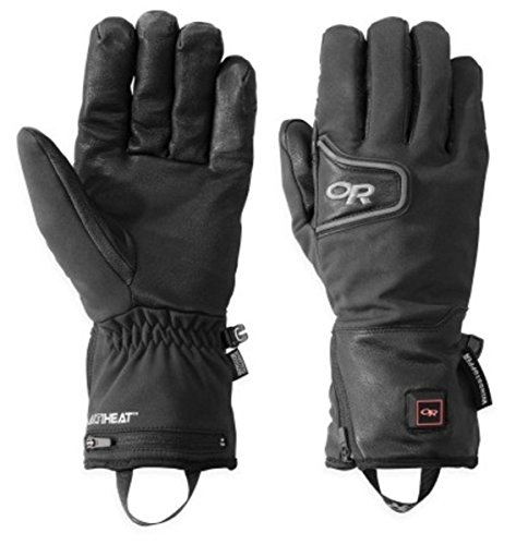 Outdoor Research Stormtracker Heated Gloves, Black, Small