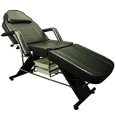 Black Massage Bed Tattoo Chair Facial Adjustable Table Beauty basket