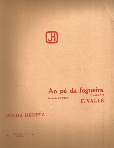 Valle-Heifetz Ao pe da fogueira for Viola & Piano