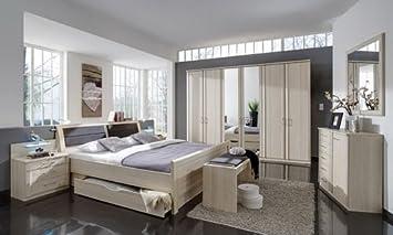 Schlafzimmer im Edel-Esche-Dekor, 4-tlg. Kleiderschrank B: ca. 275 ...