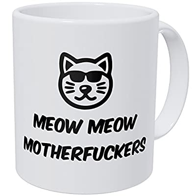 Cat Fan related Products Wampumtuk Meow Meow Cool Cat Face Glasses 11 Ounces Funny Coffee... [tag]