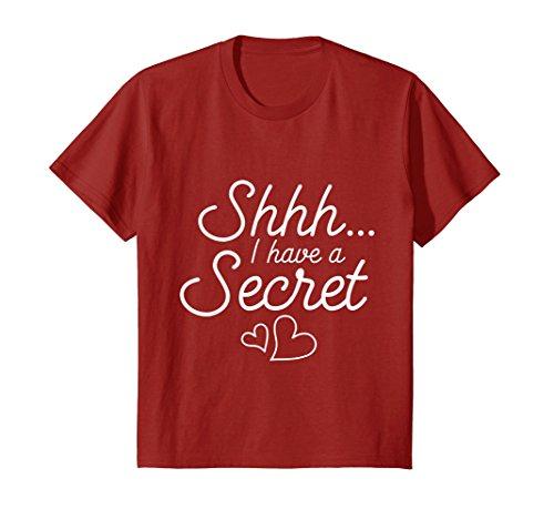 Kids Shhh I've Got a Secret I'm Going to be a Big Cousin T shirt 8 Cranberry