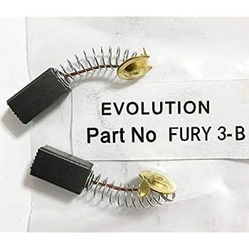 CARBON BRUSHES 008-0161 for EVOLUTION DISC CUTTER DISCCUT3051 DISCCUT3052 H10