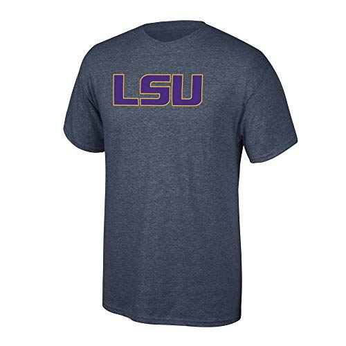 Elite Fan Shop NCAA Men's Lsu Tigers T Shirt Charcoal Icon Lsu Tigers Charcoal XX Large