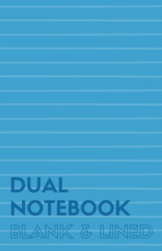 Dual Notebook Blank & Lined: Half Letter Size Notebook with Lined and Blank Pages Alternating, 5.5 x 8.5, 140 Pages (70 Narrow Ruled + 70 Blank), Blue Soft Cover (Blank & Line Journal M) (Volume 2)