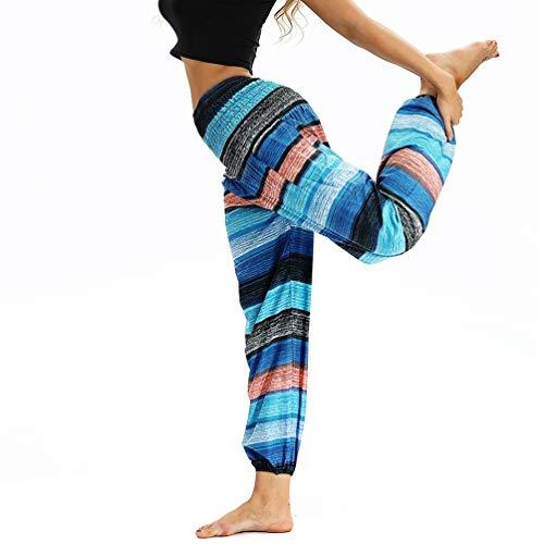 Loose Stile14 Sportivi Waist Lvguang Pantaloni da Elasticità Donna Pantaloni Boho Spiaggia Harem Pants Iq7zqPx