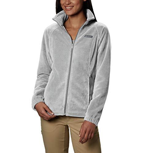 Columbia Women's Benton Springs Full Zip Jacket, Soft Fleece with Classic Fit, Cirrus Grey Heather, Large