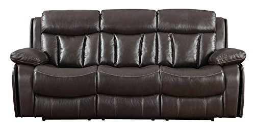 Emerald Home U5109-18-05 Lagrange Power Sofa with Full Top Grain Leather