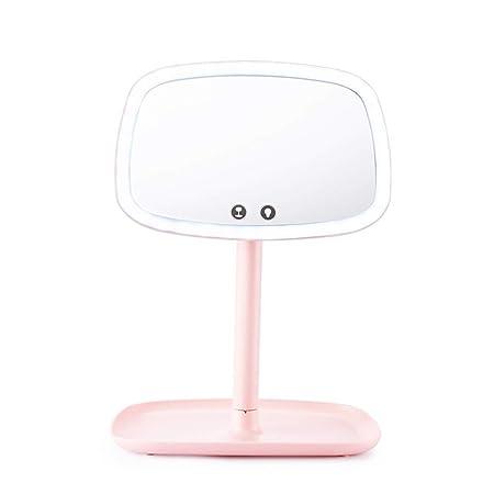 Lámpara LED de mesa multifuncional espejo de maquillaje espejo de ...