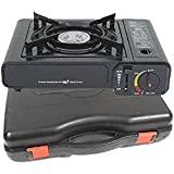 Soniko NS3500CS Stainless Steel Portable Gas Stove with InfraRed Technology Ceramic Burner
