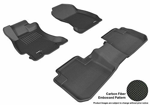 (3D MAXpider L1SB00901509 Custom Fit All-Weather Kagu Series Floor Mats for Select Black Subaru)