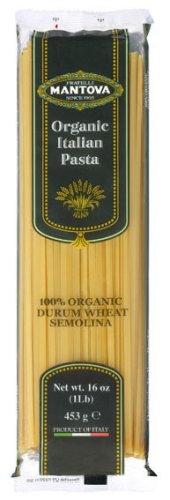 Mantova Organic Spaghetti Pasta - Non-GMO Italian Imported Pasta - 1 lb. Packs (Quantity of 10)
