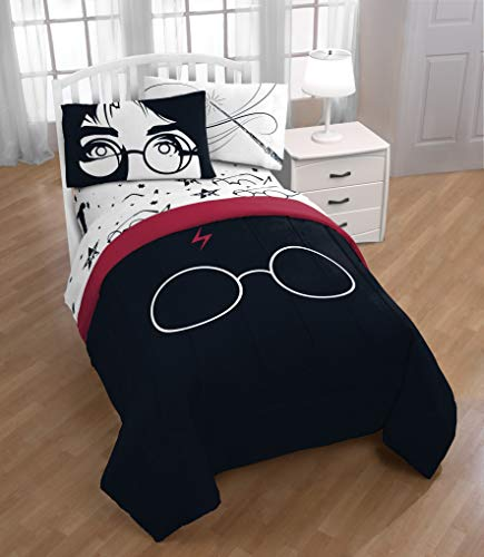 Jay Franco Harry Potter Always 5 Piece Full Bed Set, White