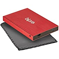(2 Year Warranty by Trio Digi) 160GB USB 3.0 2.5 inch FAT32 Portable External Hard Drive 3.0 - (RED)