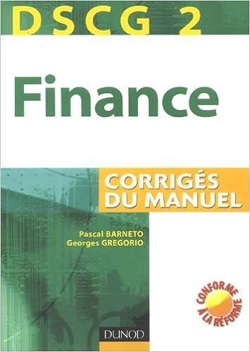 Livres DSCG 2 Finance : Corrigés du manuel epub, pdf