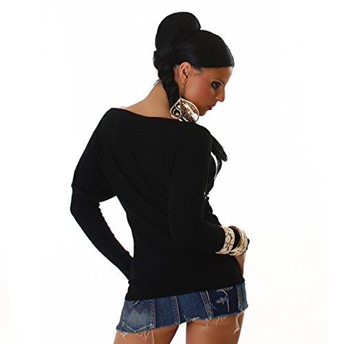Blanco Store - Maglia Donna Manica Lunga Pullover Nero