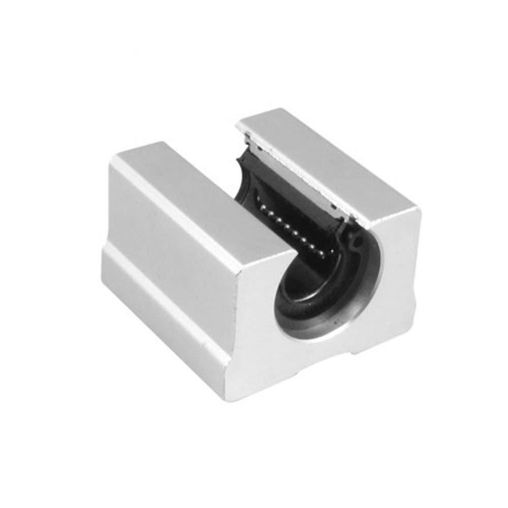 Movimiento Lineal DIY Mechanicals SBR20UU 20 mm de di/ámetro 2 Rodamientos lineales Abiertos