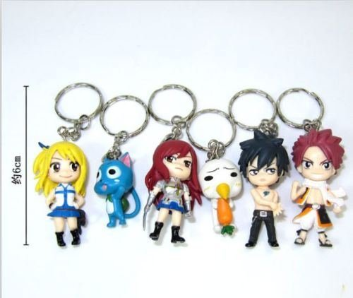 6PCS-Anime-Fairy-Tail-Natsu-Happy-Lucy-Gray-Erza-Plue-Figure-Keychain-Keyring