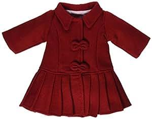 "Red Wool Coat - Fits 18"" American Girl Dolls"