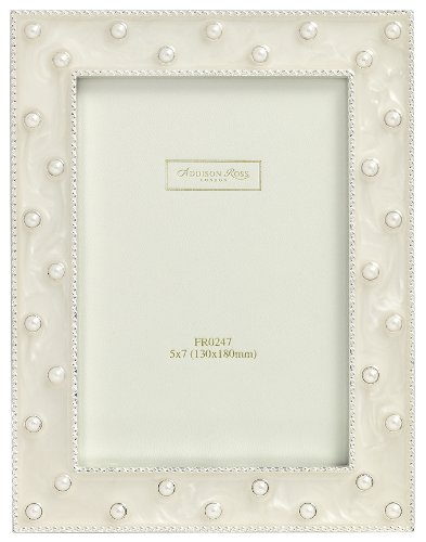 g Photo Frame, 8x10, Pearl Cream Enamel, 8 x 10 Inches (Gold Enamel Portrait)