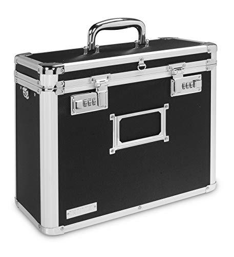 67170195 Leitz Lockable Personal Mobile Filing Case 15 File Capacity Colour: Black//Chrome Foolscap