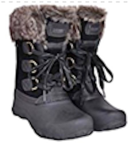 - Khombu Womens The Slope Winter Snow Boots Black (9)