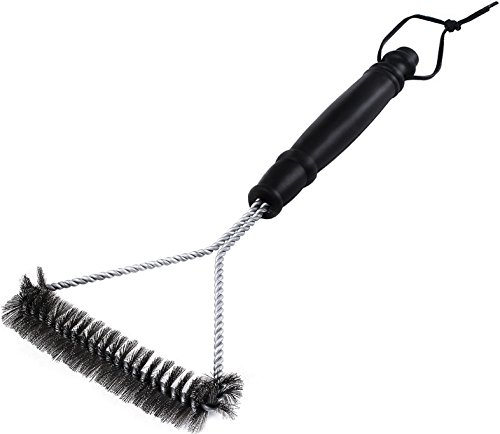 12 Inch BBQ Grill Brush - Stainless Steel BBQ Tool - by Utopia Kitchen