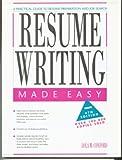 Resume Writing Made Easy, Lola M. Coxford, 0897878159