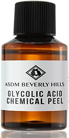 ASDM Beverly Hills 70% Glycolic Acid Peel  1 Ounce  Anti-Aging Treatment for Wrinkles, Acne Scars, Blackheads, Fine Lines, Oily Skin, and Dry Skin- Chemical Exfoliate Dissolves Dead Skin Cells