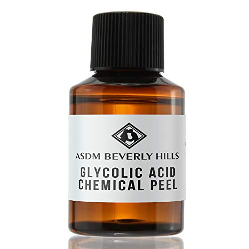 ASDM Beverly Hills 40% Glycolic Acid Peel- 1 Ounce- Anti-Aging Treatment for Wrinkles, Acne Scars, Blackheads, Fine Lines, Oily Skin, and Dry Skin- Chemical Exfoliate Dissolves Dead Skin Cells (At Home Chemical Peel For Dark Spots)