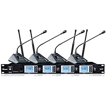bolymic 4200s 4 channel uhf wireless conference microphone system home audio theater. Black Bedroom Furniture Sets. Home Design Ideas