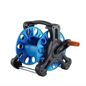 Mini Carro carrete de manguera de riego de color azul