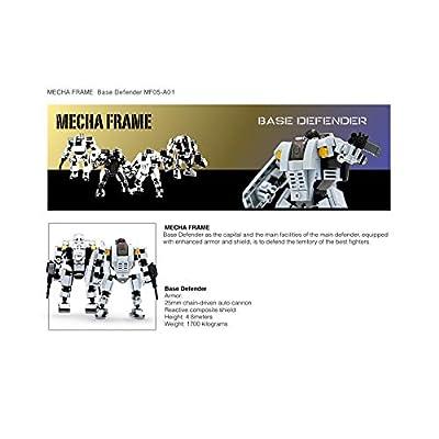 MyBuild Mecha Frame Mech Suit Model Kit Building Blocks Toy Base Defender MF05-A01: Toys & Games