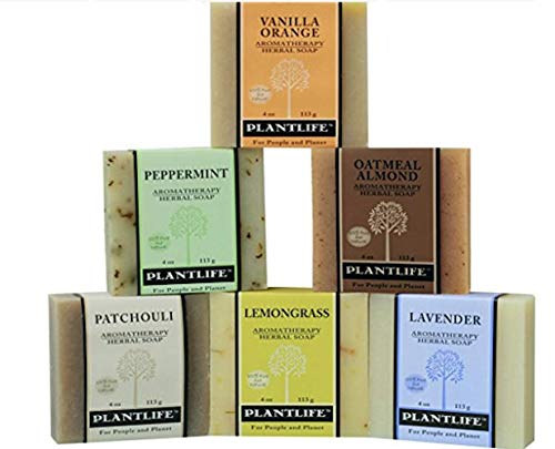 Top 6 Natural Aromatherapy Herbal Soaps - 4 oz -