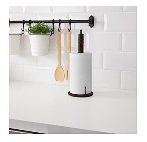 Ikea Steel Kitchen Organizer Set 31 Inch Rail 5 Hooks Flatware