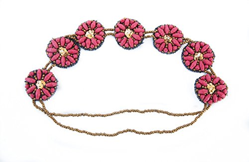 Gorgeous Flower Headband Handmade from Recycled Paper made with Love by Women in Uganda, Africa