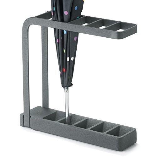 "Polder STO-8400-95 Slimline Umbrella Stand, 10"" x 3"" x 9.25"", Black"