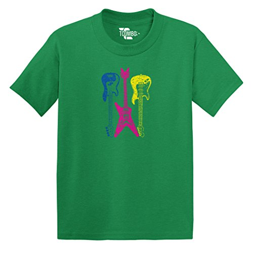 Three Distressed Guitars Toddler/Infant T-Shirt (Kelly Green, 18 Months) Double Neck Guitar T-shirt
