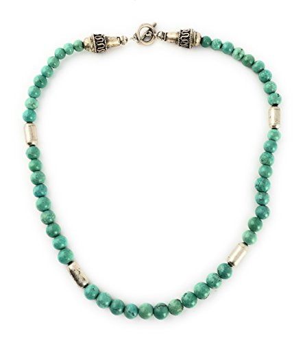 Masha Storewide Sale ! Sterling Silver Necklace By Turquoise, Made in USA - Exclusive Southwestern Handmade Jewelry, Gift by Masha