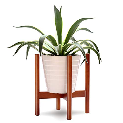 Sturdy Beech Wood Plant Stand, Support Pot Plant Rack Flower Holder Indoor for Home Decor, Max to 10 Inch Planter(Plant & Pot Not ()