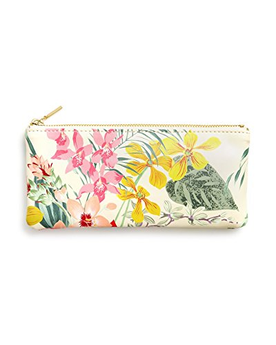 ban.do Women's Get it Together Leatherette Toiletry Travel Bag Pencil Pouch with Zip Close, Paradiso ()