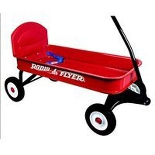 New Radio Flyer 93b Ranger Metal Red Wagon & Seatbelt New In Box Sale (Flyer Box Toy Radio)
