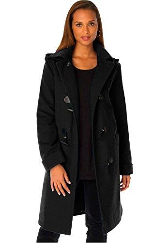 Knee Length Leather Coat - 9