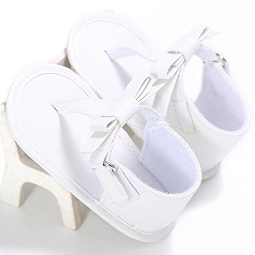 bescita Kleinkind Mädchen Krippe Schuhe Neugeborenen Blume Weiche Sohle Anti-Rutsch-Baby Sneakers Sandalen (11, Weiß)