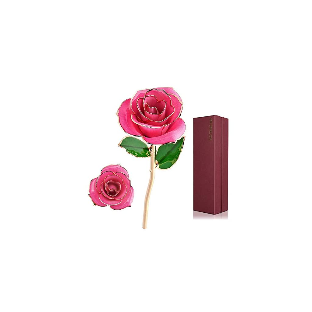 24-K-Gold-Foil-Trim-Long-Stem-Rose-Last-Forever-Best-Gift-for-Valentines-Day-Mothers-Dayanniversary-Birthday-Gift-Pink