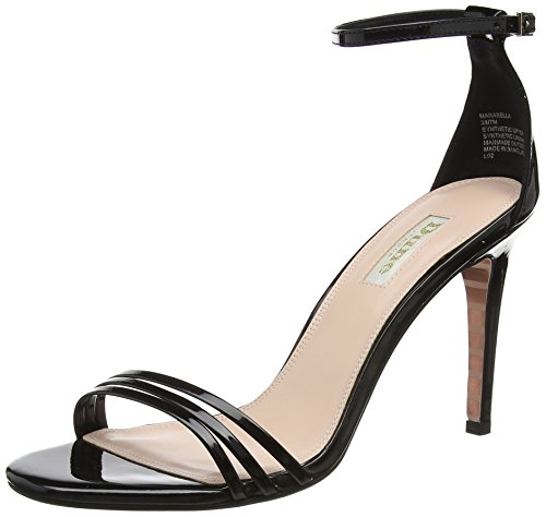 Dune Marabella, Sandales Bride Cheville Femme Noir (Black-patent Black-patent)