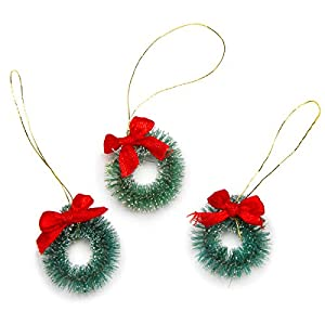 Darice 3-Piece Sisal Wreath with Frost, 1-Inch (16470) 47
