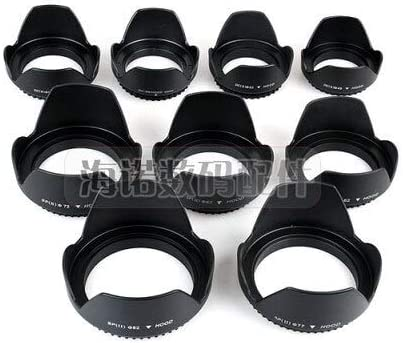 Camera Lens Hood DC-SN Hood 52mm Screw Mount Flower Crown Lens Hood Petal Shape for Canon Nikon Tamron Sigma Sony 52mm Lens