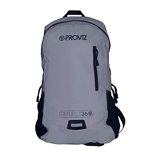 Sports Rucksack - Proviz Sports Reflect360 100% Reflective High-Viz Highly Water Resistant Backpack/Rucksack, Great for Sports + Cycling